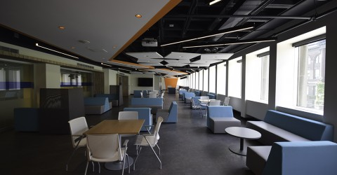 Long view of student lounge