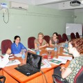 NUR 480 students meet with the director general of CHAI in India