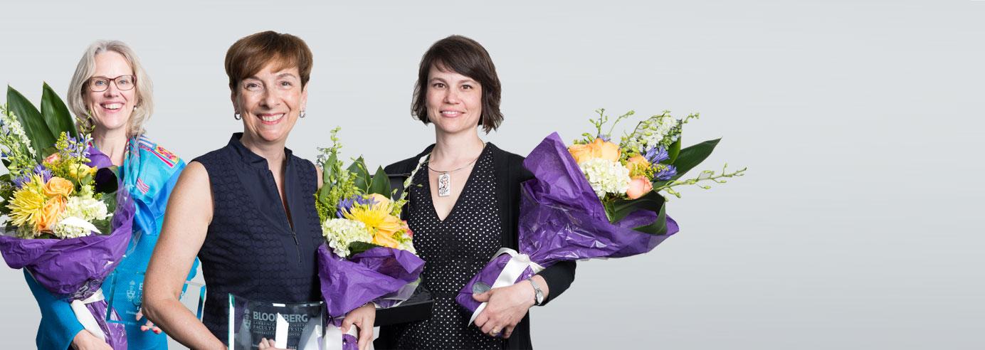 Three award winners: Leslee Thompson, Janet Beed, and Melinda Wall